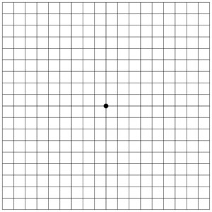 Amsler Chart for self eye testing initial starting point