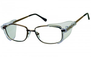 Zeus Gold or Gunmetal metal frame 52×19 with removable side shields